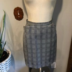 VNTG ✨ Houndstooth Pencil Skirt Sm w/Pockets